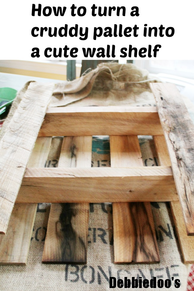 How to turn a pallet into a wall shelf