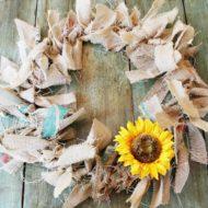 Making-a-rag-wreath