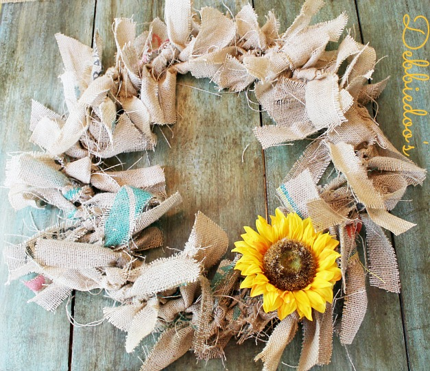 How to make a burlap rag wreath debbiedoos Making wreaths