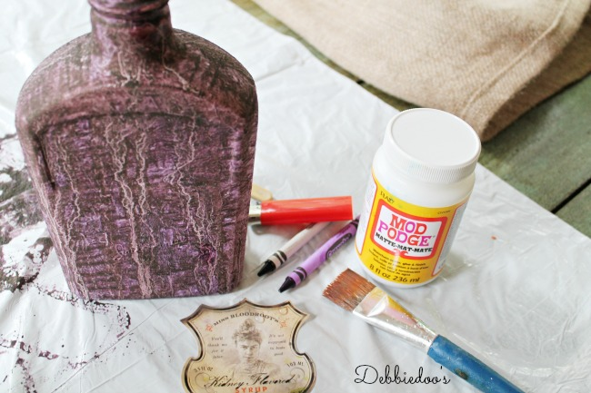 Purple rit dye and gesso project
