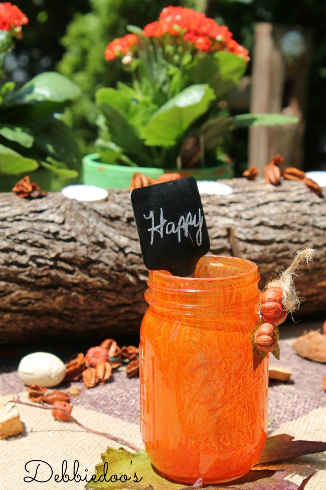 Rit dye tablescape with mason jars