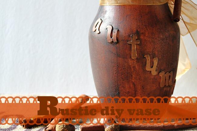 autumn rustic vase