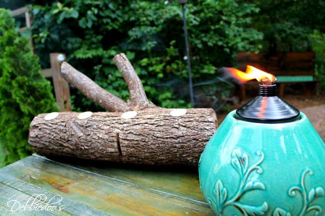 log centerpiece