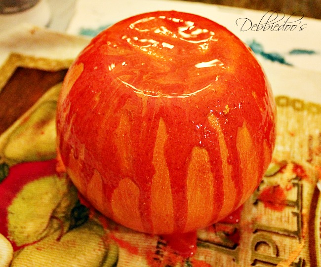 vase pumpkin with rit dye and gesso 006