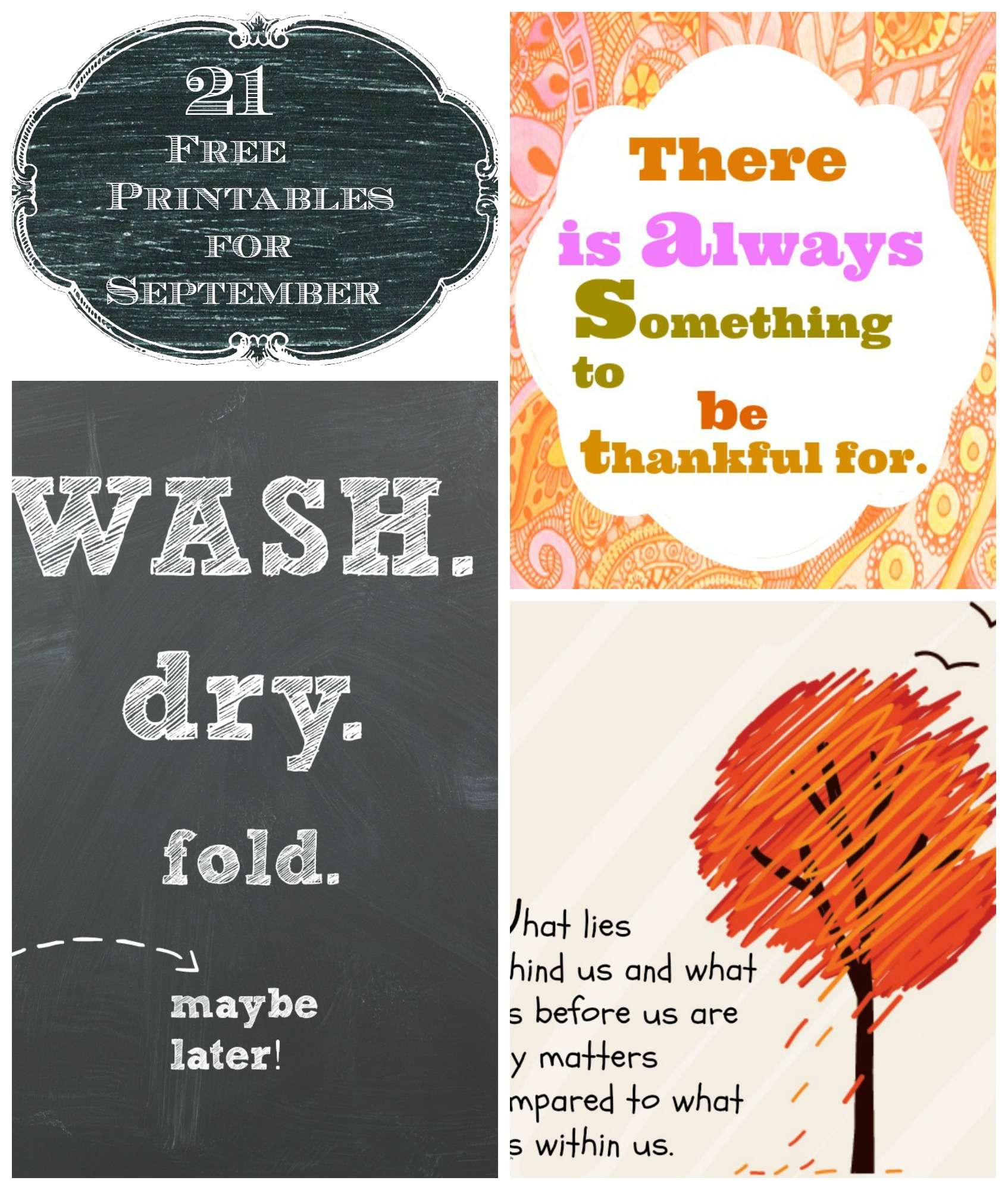21 free printables for the month of september debbiedoos