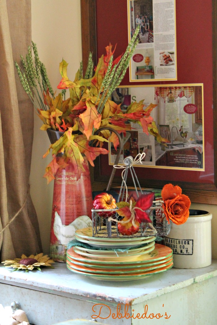 Adventures In Decorating Our Fall Kitchen: Fall Budget Decorating In The Kitchen