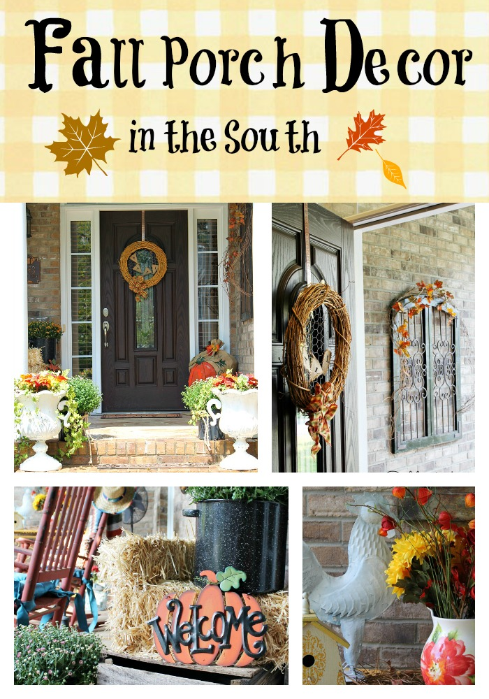 Fall porch decorating in the South