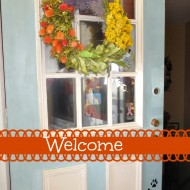 Fall porch tour of townhouse