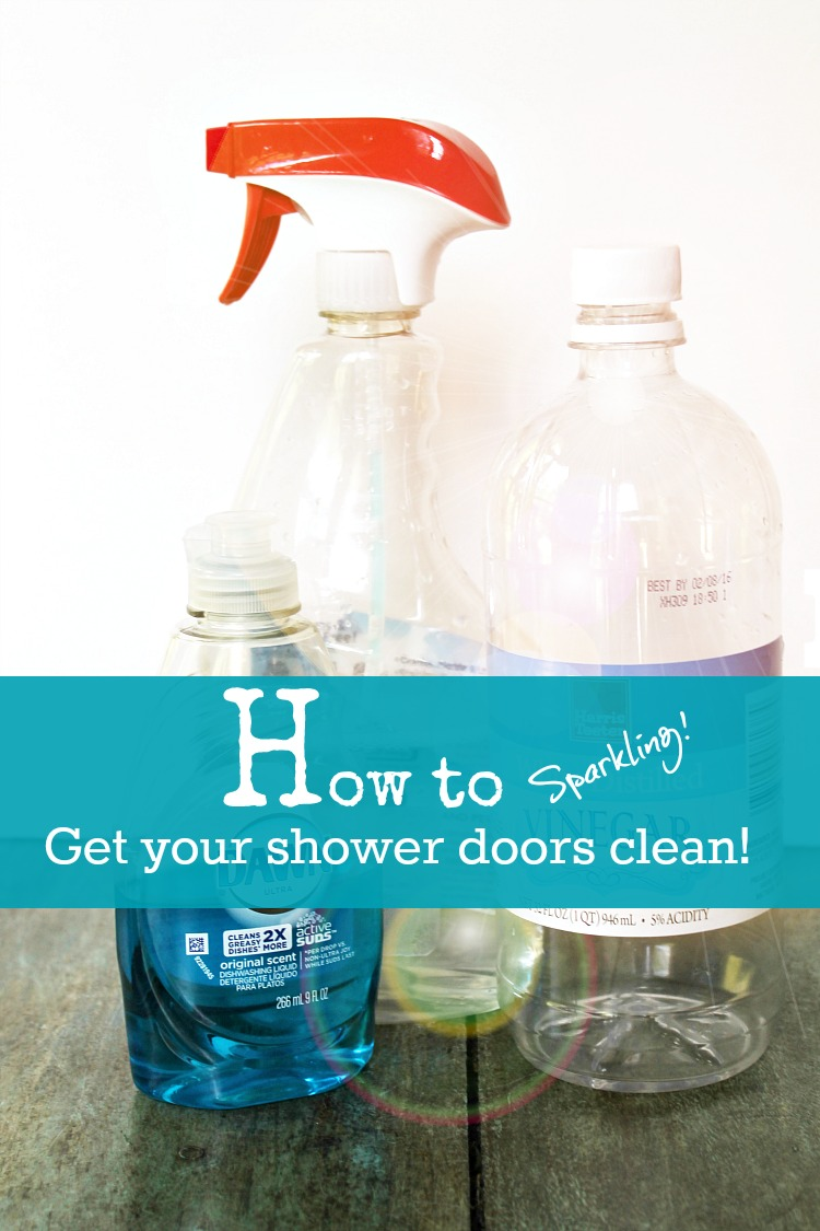 How to get your shower doors sparkling clean