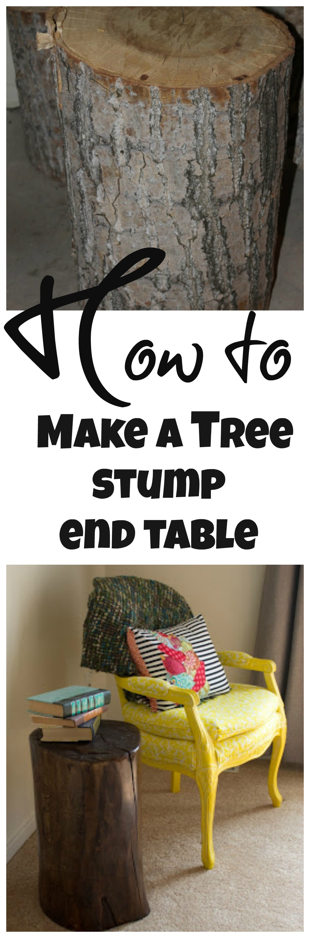 How to make an end table out of a tree stump