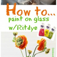 How to paint on glass with rit dye