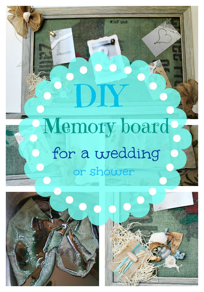 Memory board for a beachy wedding