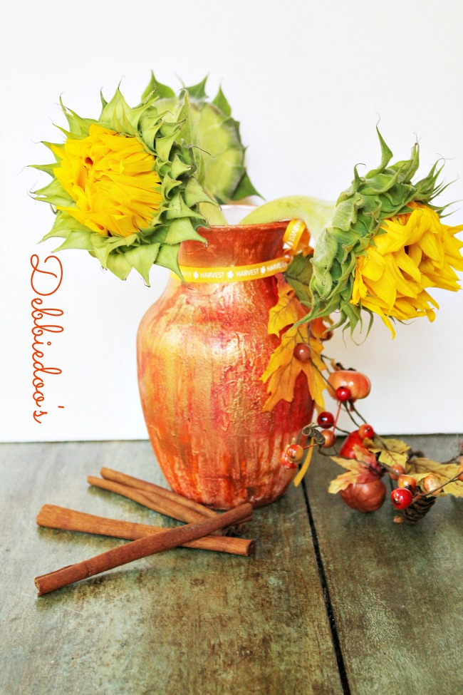 Rit dye vase for fall