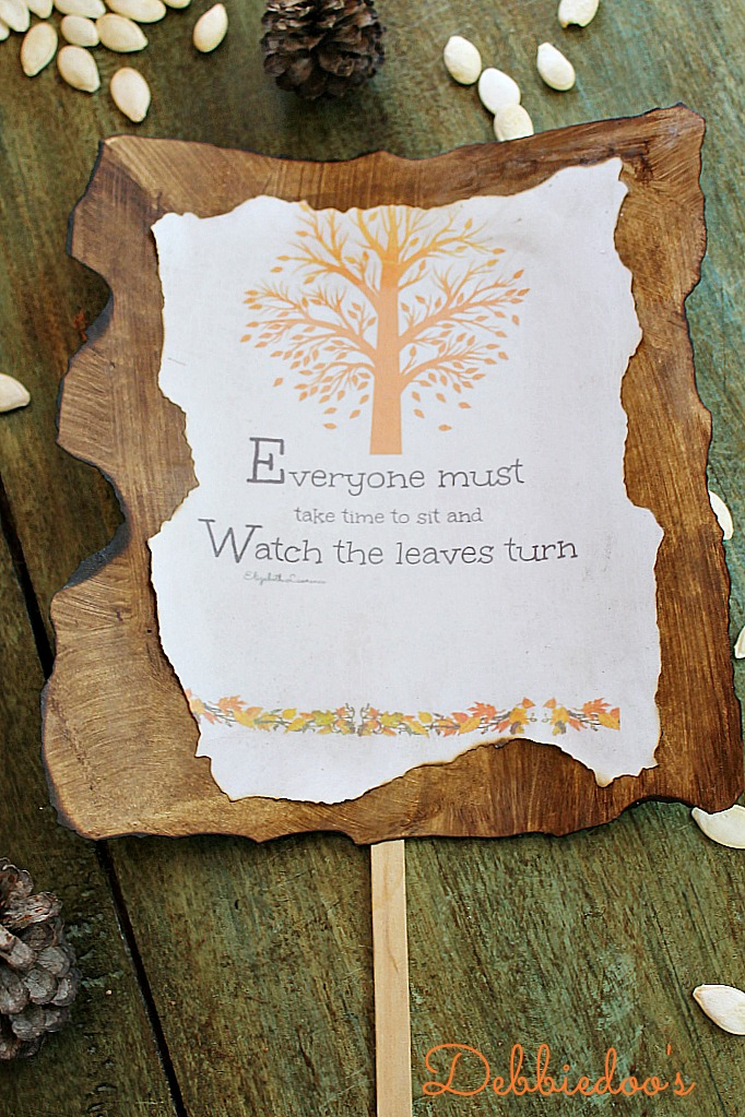Fall printable for tablescape