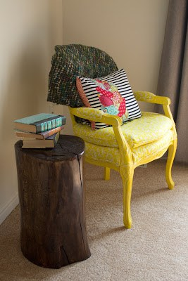 Diy tree stump end table - Debbiedoos