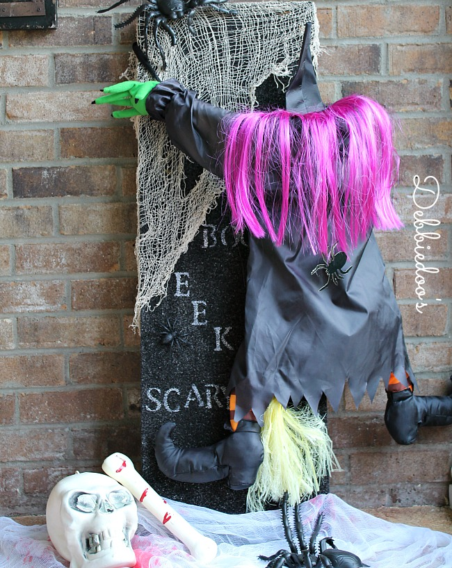 Halloween craft with styrofoam