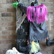 Crafting with Styrofoam {Halloween craft}