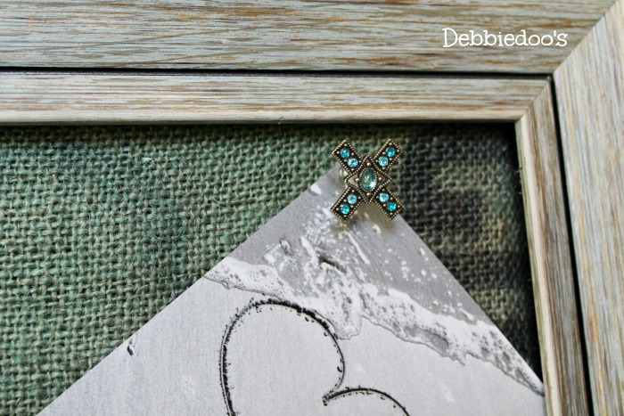 diy memory board for wedding or shower 073
