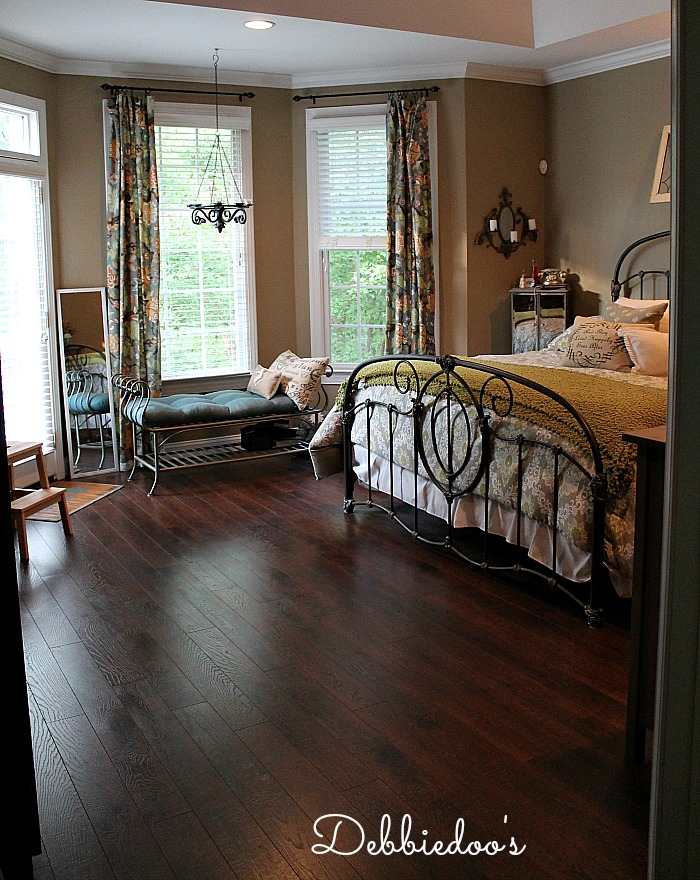 Pergo XP flooring in the bedroom