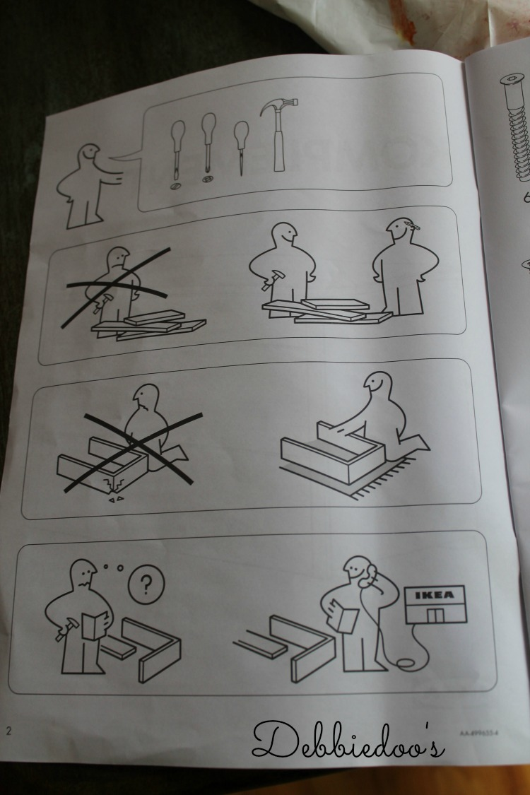 Instructions for Ikea wardrobe