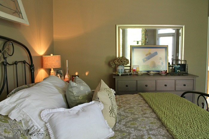master bedroom with Ikea furniture