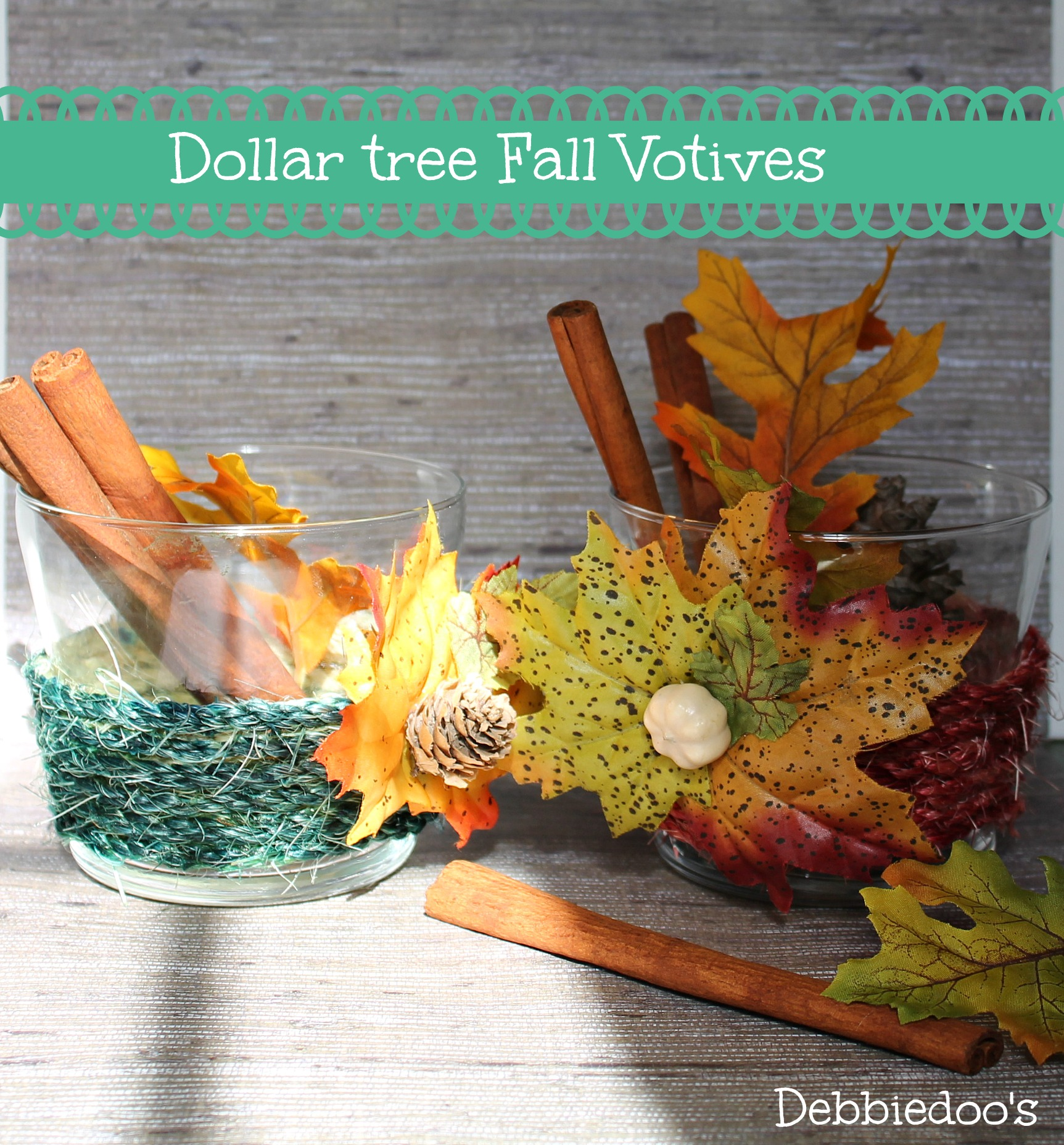 Fall diy votives from the dollar tree