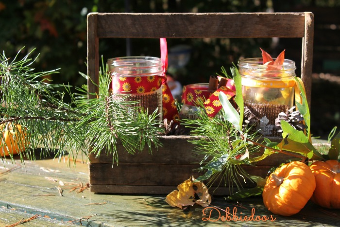 Creating vignettes with mason jars for fall 007
