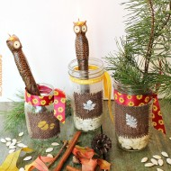 Creating vignettes with mason jars for fall 043