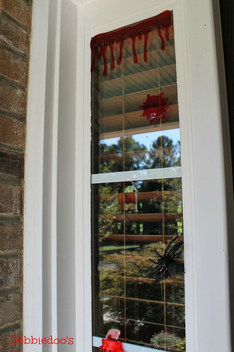 Splattered blood window clings
