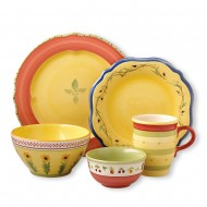 Dining outdoors with Pfaltzgraff Pistoulet dinnerware