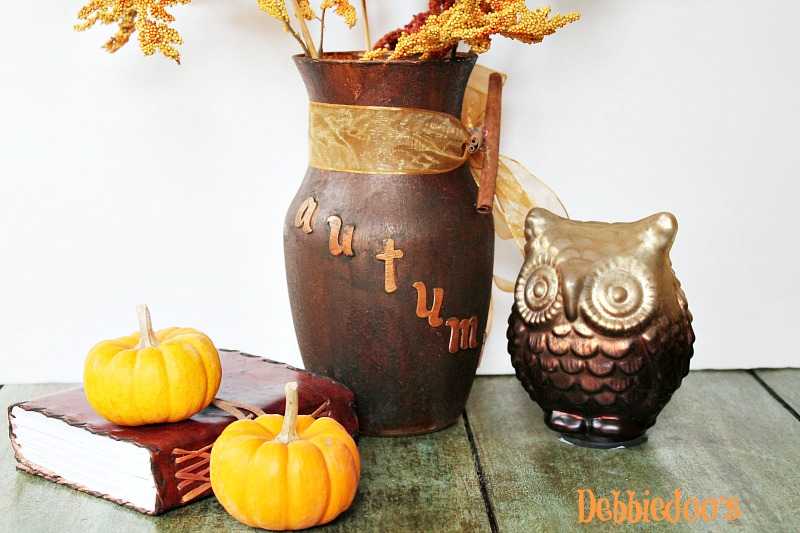 rustic- vase- with mod- podge and rit- dye