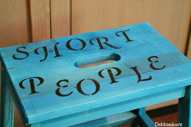 Step stool painted with Rit dye