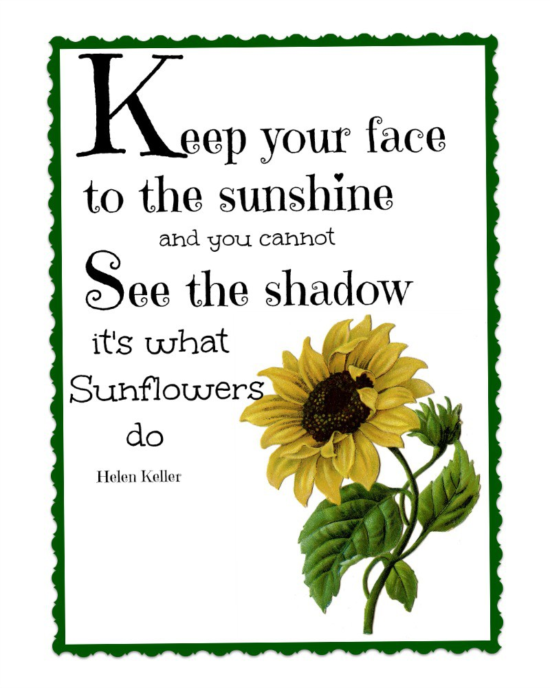 sunflower-printable