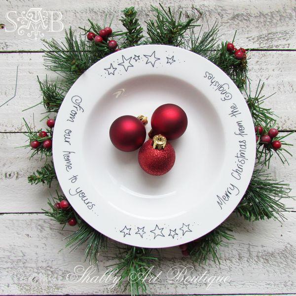 christmas sharpie plates