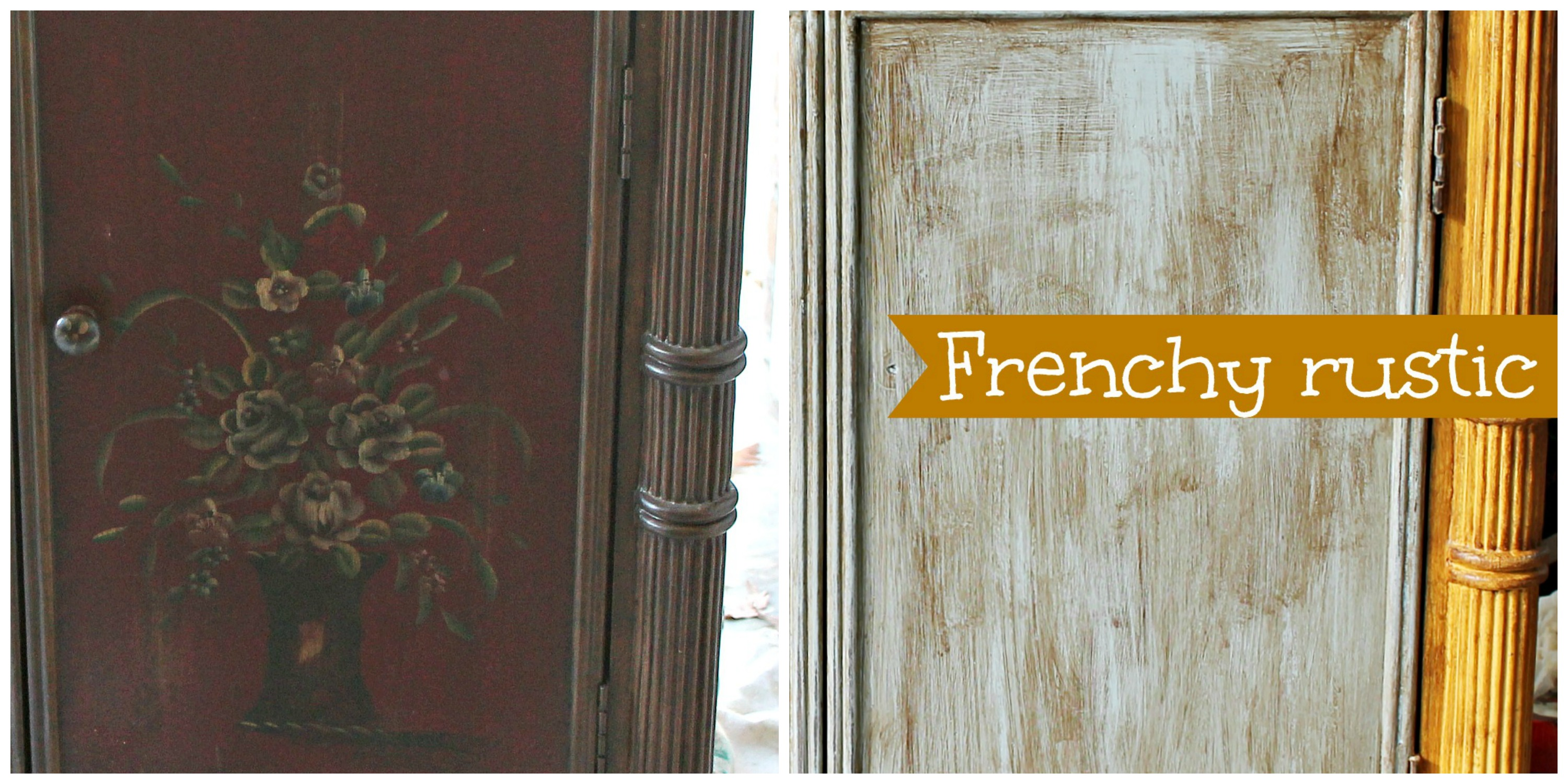 Before and after frency rustic style