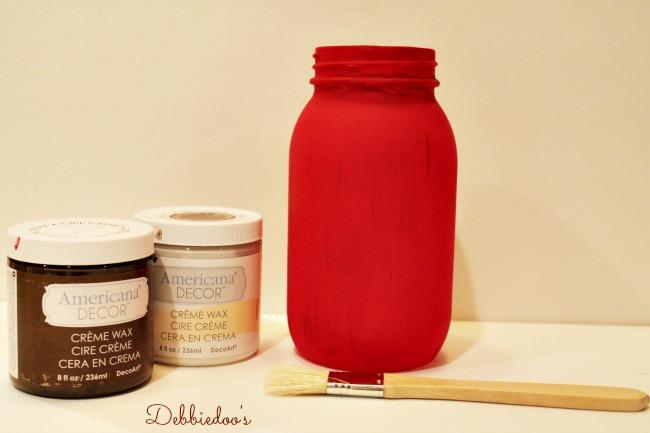 Chalky paint mason jar