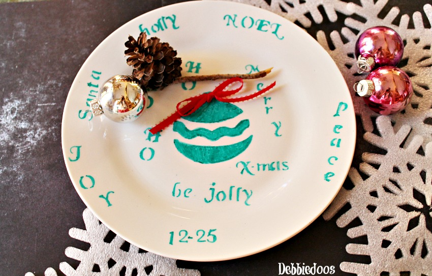 These are all Christmas inspired of course & Christmas sharpie plates - Debbiedoos