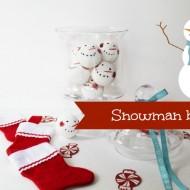 Snowman balls out of Styrofoam