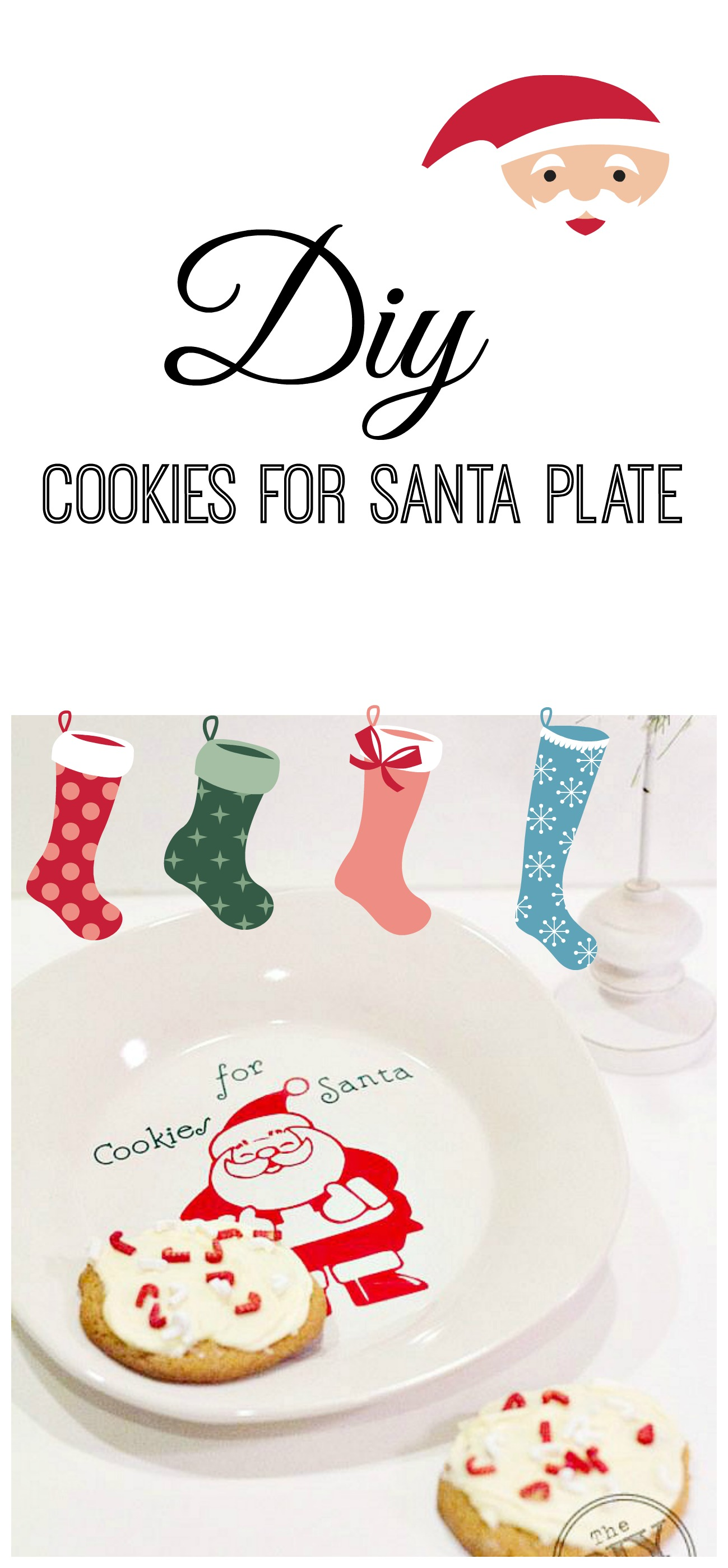 diy cookies for santa plate