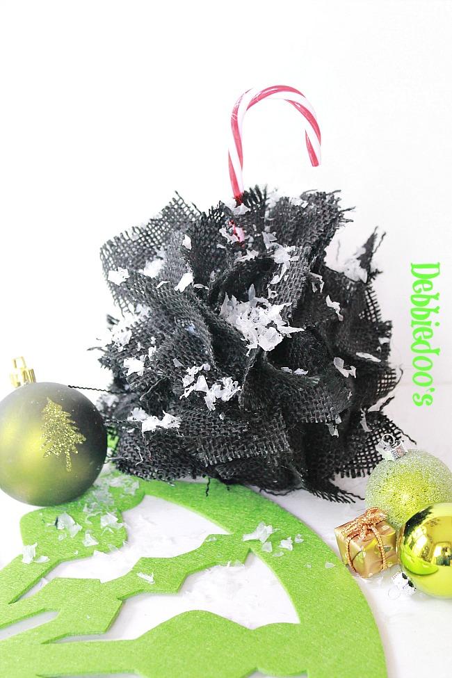 burlap Christmas ornament 015
