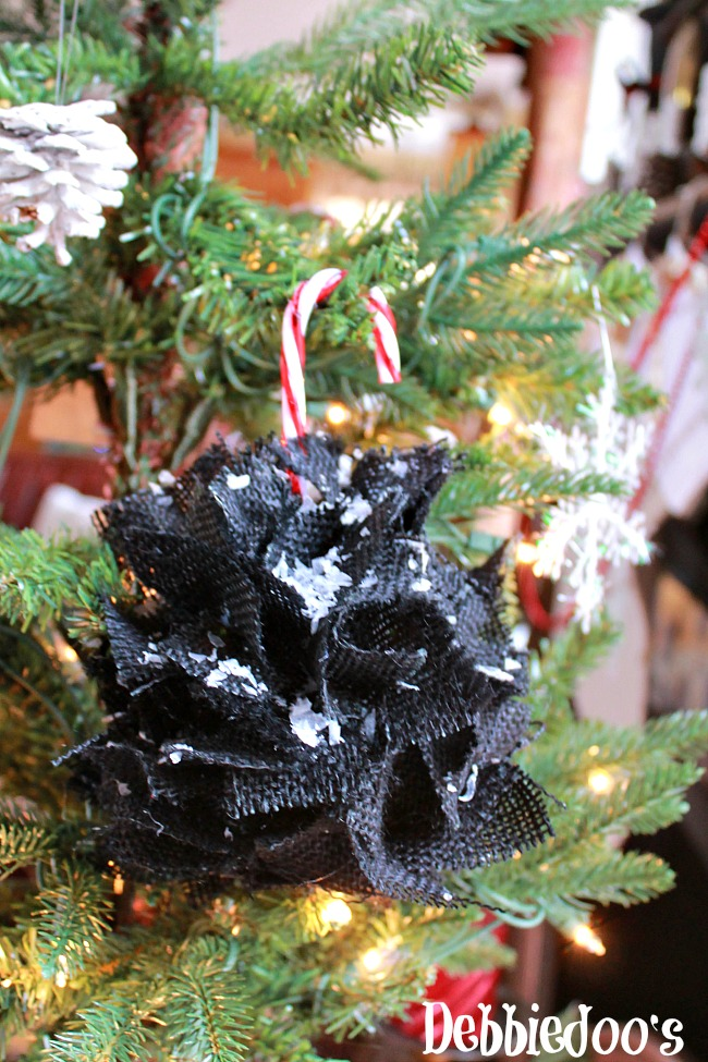 burlap Christmas ornament 020