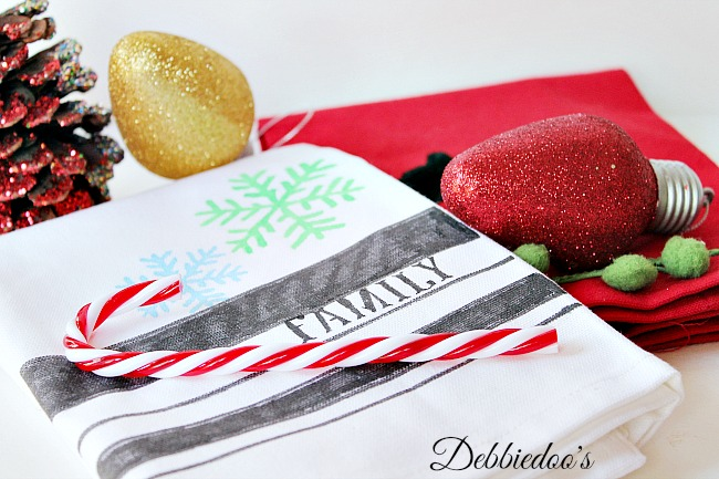 diy Christmas dish towel 005
