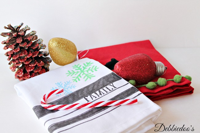 diy Christmas dish towel 006
