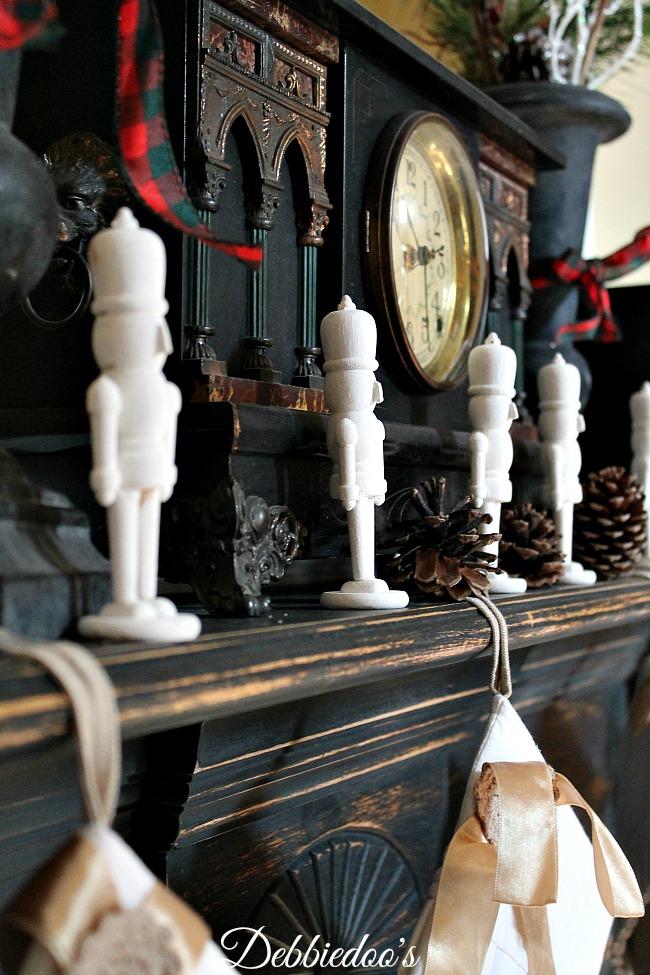 Fireplace mantel for Christmas