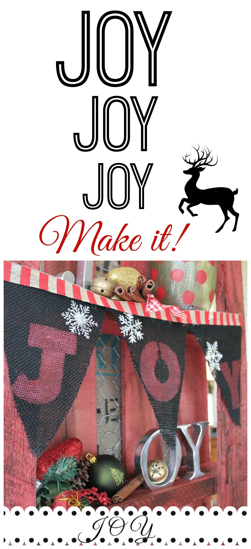 diy Joy burlap banner