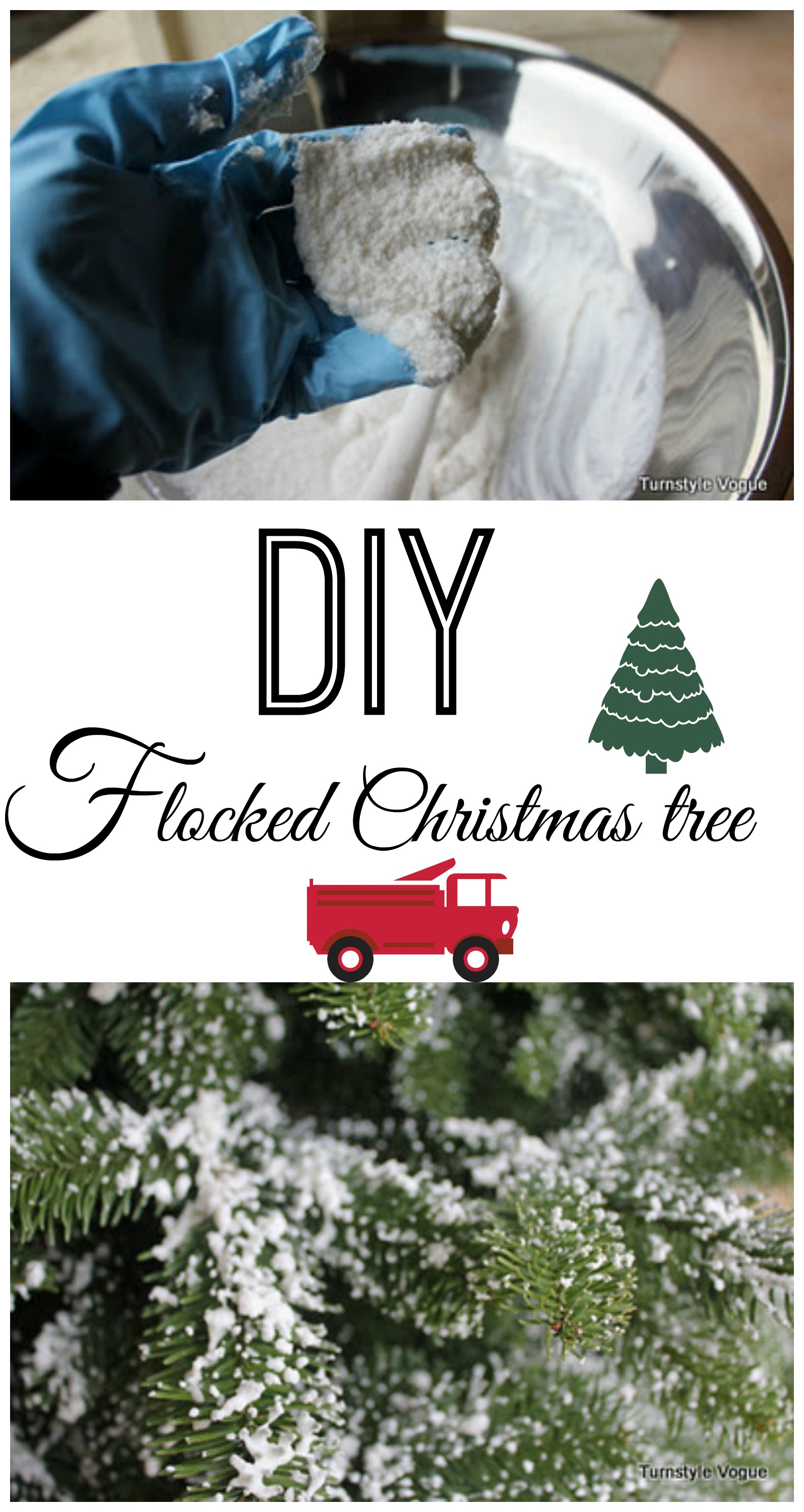 Diy flocked tree debbiedoos diy flocked christmas tree solutioingenieria