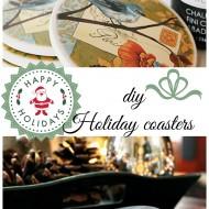 diy holiday chalkpainted coasters