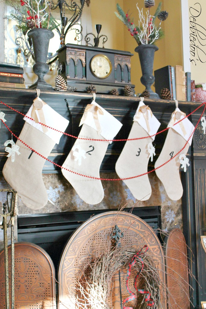 burlap Christmas stockings from oriental trading company