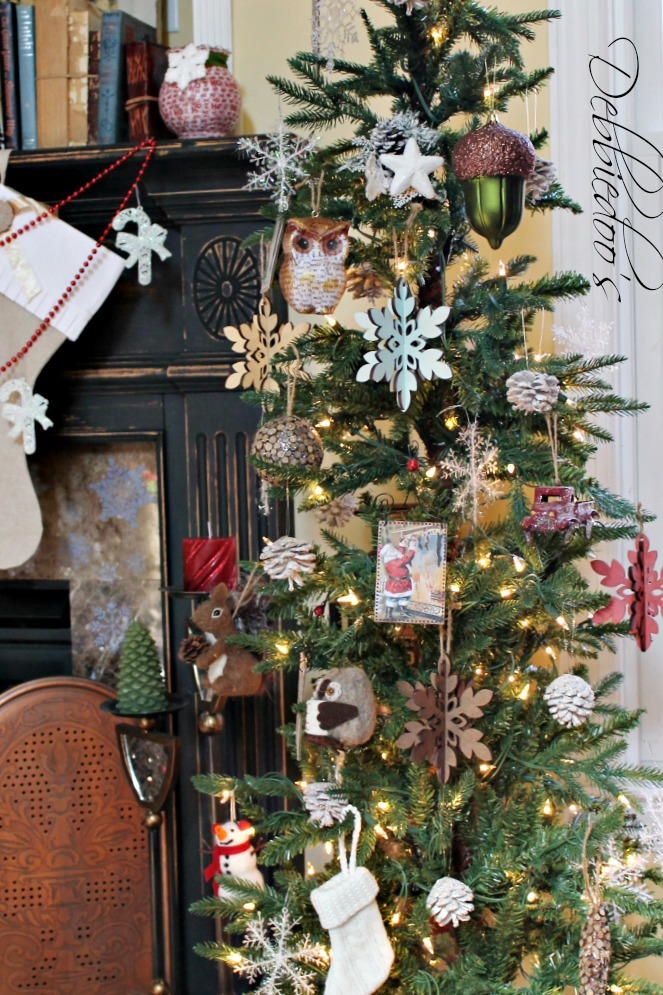 christmas tree from target with burlap base - Charlie Brown Christmas Decorating Ideas