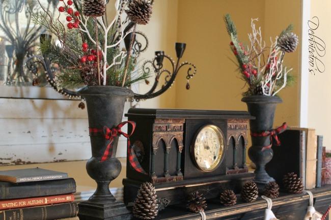mantel and tree for Christmas